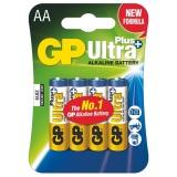 Baterie alkalická GP Ultra Plus AA, blistr 4ks