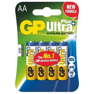 Baterie alkalická GP Ultra Plus AA, LR06, blistr 4ks