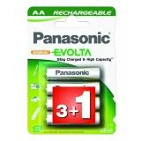 Baterie nabíjecí Panasonic Evolta AA, HR06, 1900mAh, Ni-MH, blistr 4ks