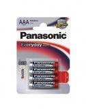 Baterie alkalická Panasonic AAA, LR03, Everyday, blistr 4ks