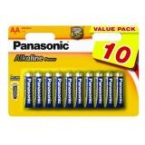 Baterie alkalická Panasonic ALKALINE POWER AA, R06, blistr 10ks