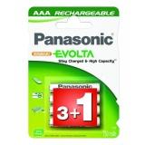 Baterie nabíjecí Panasonic Evolta AAA, HR03, 750mAh, blistr 4ks