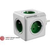 Rozbočovací zásuvka Powercube Original 5x zásuvka - bílá/zelená