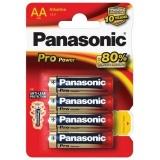 Baterie alkalická Panasonic AA, LR6, Pro Power, blistr 4ks