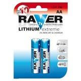 Baterie lithiová Raver AA, LR6, blistr 2ks