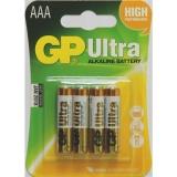 Baterie alkalická GP Ultra AAA, blistr 4ks