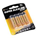 Baterie alkalická GoGEN SUPER ALKALINE AA, LR06, blistr 4ks