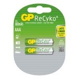 Baterie nabíjecí GP ReCyko+ Pro AAA, HR03, 800mAh, Ni-MH, krabička 2ks
