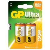 Baterie alkalická GP C, LR14, Ultra, blistr 2ks