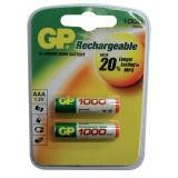Baterie nabíjecí GP ReCyko+ AAA, HR03, 1000mAh, Ni-MH, krabička 2ks