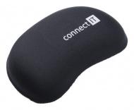 Podložka Connect IT zápěstní před myš z paměťové pěny - černá