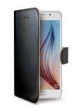 Pouzdro na mobil flipové Celly Wally pro Galaxy S6 - černé