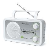 Radiopřijímač MUSE M-05, stříbrný/bílý