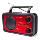 Radiopřijímač MUSE M-05, červený