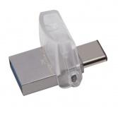 Flash USB Kingston DataTraveler MicroDuo 3C 32GB OTG USB-C/USB 3.1 - stříbrný