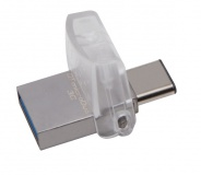 Flash USB Kingston DataTraveler MicroDuo 3C 64GB OTG USB-C/USB 3.1 - stříbrný