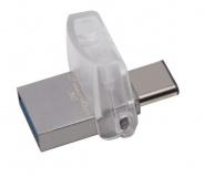 Flash USB Kingston DataTraveler MicroDuo 3C 64GB USB 3.1 - stříbrný
