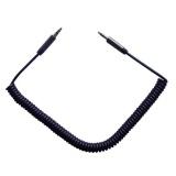 Kabel GoGEN Jack 3,5mm, 2m, pozlacené konektory, kroucený - černý