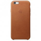 Kryt na mobil Apple Leather Case pro iPhone 6S - Saddle Brown