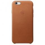 Kryt na mobil Apple Leather Case pro iPhone 6s - sedlově hnědá