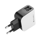 Nabíječka do sítě GoGEN ACH 200, 2x USB, 2,1A - černá/bílá