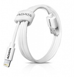 Kabel A-Data Sync & Charge Lightning, 1m, MFi - bílý