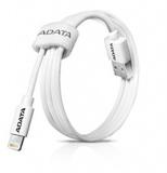 Kabel ADATA Sync & Charge Lightning, 1m, MFi - bílý