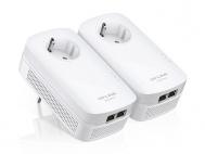 Síťový rozvod LAN po 230V TP-Link TL-PA7020PKIT Starter Kit + IP TV na 1 měsíc ZDARMA 1000 Mb/s, průchozí