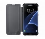 Pouzdro na mobil flipové Samsung Clear View pro Galaxy S7 Edge (EF-ZG935C) - zlaté