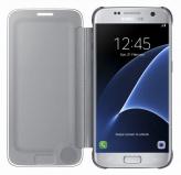 Pouzdro na mobil flipové Samsung Clear View pro Galaxy S7 (EF-ZG930C) - stříbrné