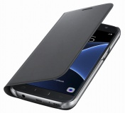 Pouzdro na mobil flipové Samsung pro Galaxy S7 (EF-WG930P) - černé