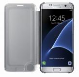 Pouzdro na mobil flipové Samsung Clear View pro Galaxy S7 Edge (EF-ZG935C) - stříbrné