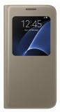 Pouzdro na mobil flipové Samsung S-View pro Galaxy S7 (EF-CG930P) - zlaté