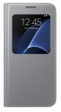 Pouzdro na mobil flipové Samsung S-View pro Galaxy S7 (EF-CG930P) - stříbrné
