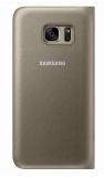 Pouzdro na mobil flipové Samsung LED View pro Galaxy S7 (EF-NG930P) - zlaté