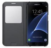 Pouzdro na mobil flipové Samsung S-View pro Galaxy S7 Edge (EF-CG935P) - černé