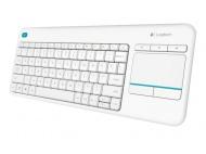 Klávesnice Logitech Wireless Keyboard K400 Plus, US - bílá