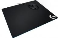 Podložka pod myš Logitech Gaming G640, 40 x 46 cm - černá