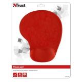 Podložka pod myš Trust BigFoot Gel Mouse Pad, 23 x 20 cm - červená