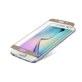 Ochranné sklo InvisibleSHIELD Glass Contour pro Samsung Galaxy S6 Edge - zlatý rám