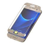 Ochranné sklo InvisibleSHIELD Glass Contour pro Samsung Galaxy S7 - zlatý rám