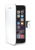 Pouzdro na mobil flipové Celly Wally pro Apple iPhone 6/6s - bílé