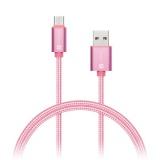 Kabel Connect IT Wirez Premium USB/USB-C, 1m - růžový/zlatý