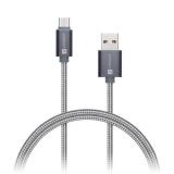 Kabel Connect IT Wirez Premium USB/USB-C, 1m - stříbrný/šedý