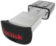 Flash USB Sandisk Cruzer Ultra Fit 64GB USB 3.0 - stříbrný