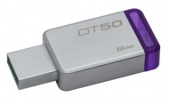 Flash USB Kingston DataTraveler 50 8GB USB 3.0 - fialový/kovový