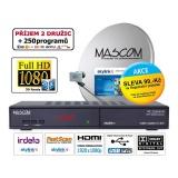 Satelitní komplet Mascom MC2350/80MBL-M7, příjem 2 družic s kartou Skylink