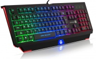 Klávesnice Connect IT Battle Rainbow, CZ - černá