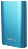 Powerbank ADATA A10050QC 10050mAh, s funkcí rychlonabíjení - modrá