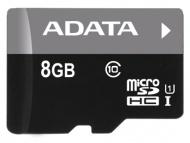 Paměťová karta ADATA 8GB Class 10 UHS-U1 (50R/10W) + čtečka MicroReader Ver.3
